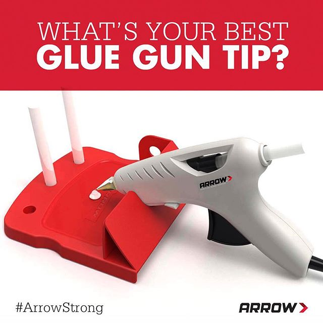 Calling all crafters! We want to hear your best glue gun crafting or safety tips. Comment below, and your wisdom may just be the next tip we share. Our tip? Use an old spatula to spread hot glue!
