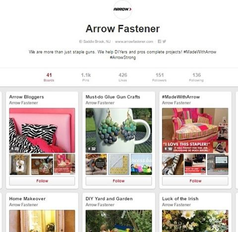 Have you found us on Pinterest? We <3 Pinterest because it lets us show all of you the many different projects you can take on with Arrow's #stapleguns, #tools, tools, #nailers, #hammertackers, tools and #glueguns. Click the link in our profile to see our many project ideas!