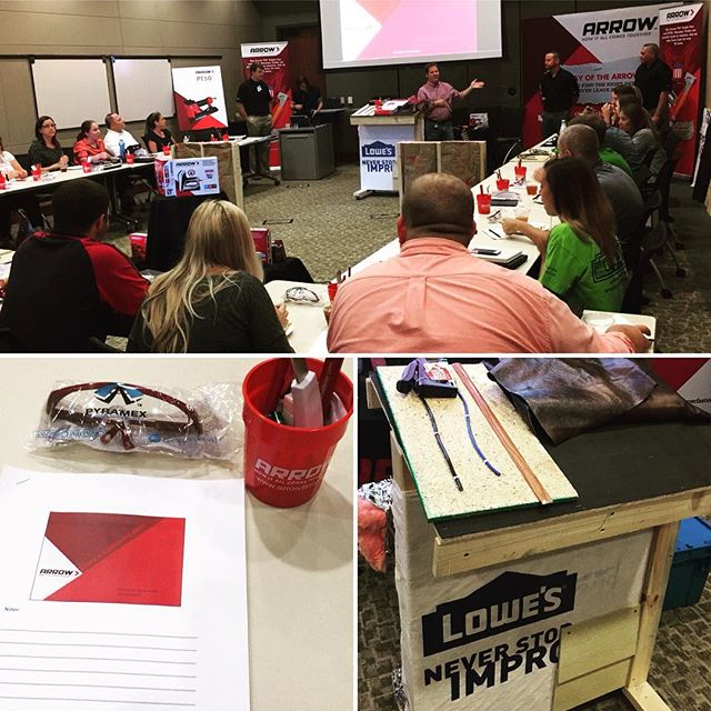 A behind-the-scenes look at our Contractor Lunch & Learn! We loved chatting with about our recent Arrow additions to Lowe's, as well as offering troubleshooting tips and answering questions.