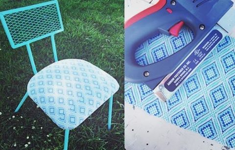 Not bad for one of our vintage electric staple guns, right? We loved this project from @rescuedjunk that showed a beautiful metal chair restoration with spray paint, vintage fabric and one of our older electric tools. If you're looking for an electric staple gun to tackle those #upholstery, #insulation, and projects, click the link in our profile to check Arrow's latest offerings!