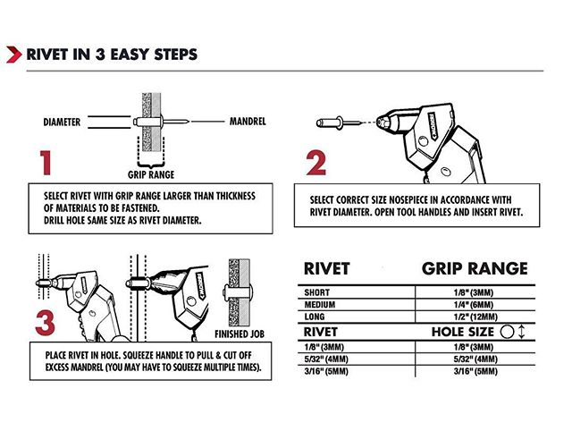 TIME TO BE RIVETING. Before jumping into your first project, follow these three simple tips to ensure smooth sailing throughout your project. BONUS: If you want a complete Arrow Fastener Rivet Guide full of fantastic tips, direct message us now!