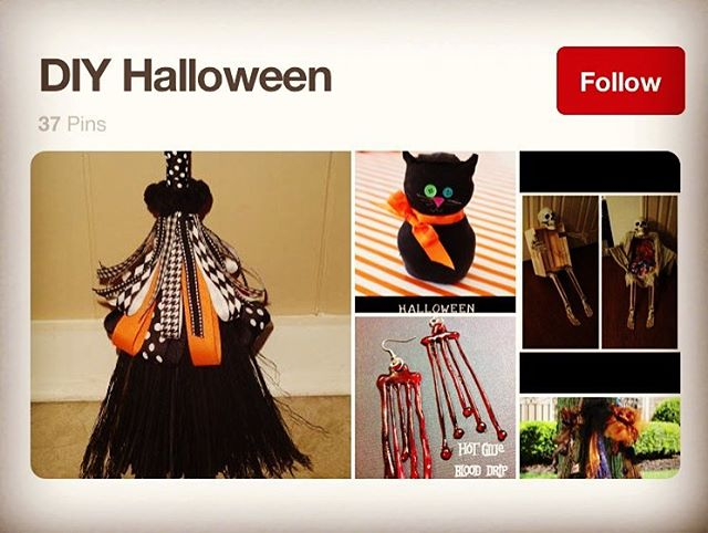 IS ONLY 18 DAYS AWAY. Is your home spook-tacular? We are pinning TONS of new craft and DIY ideas to our Halloween Pinterest board! Discover Halloween Pinterest magic by clicking that link in our profile.