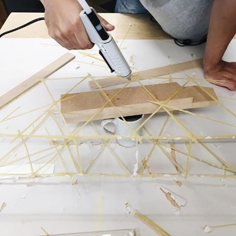 We're not just staple guns. So we loved seeing our TR550 All Purpose Glue Gun hard at work on a bridge model for @dlittlecorner. What could an Arrow accomplish for you?