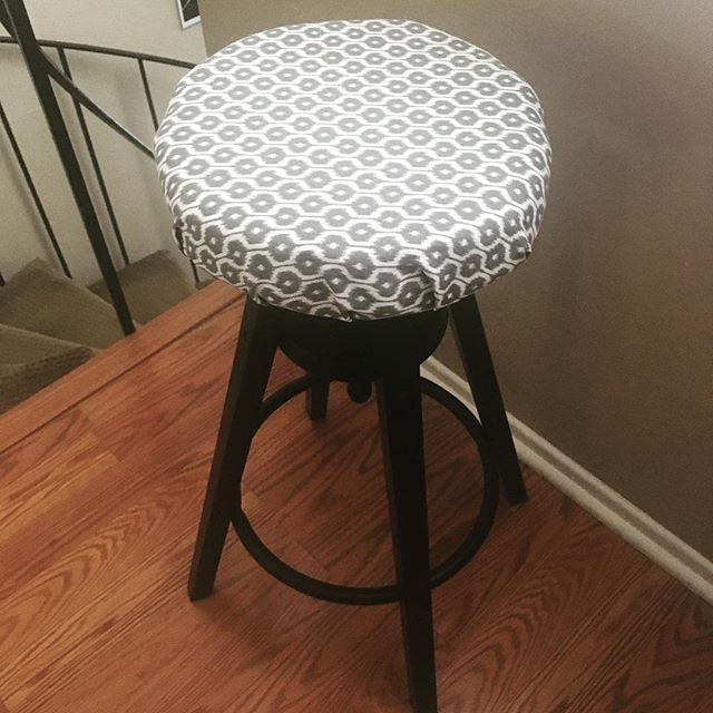 A slightly better view of my stool. Can't get over how cute it is