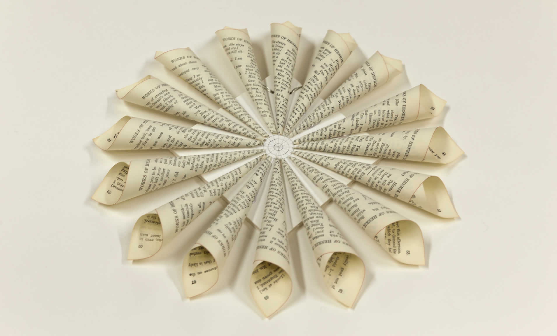 Turn an old book into a book page wreath