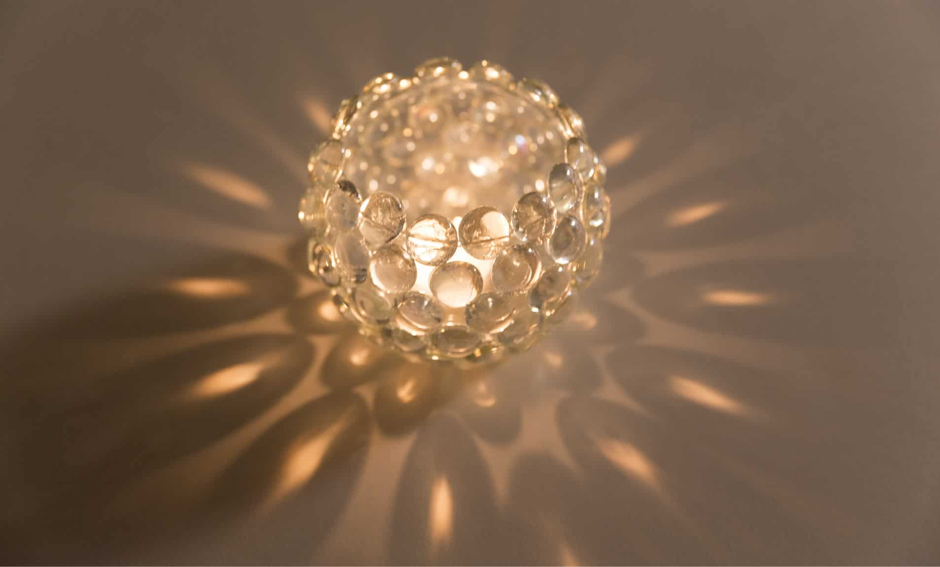 Glass gem votives are easy to make and add sparkle to any space