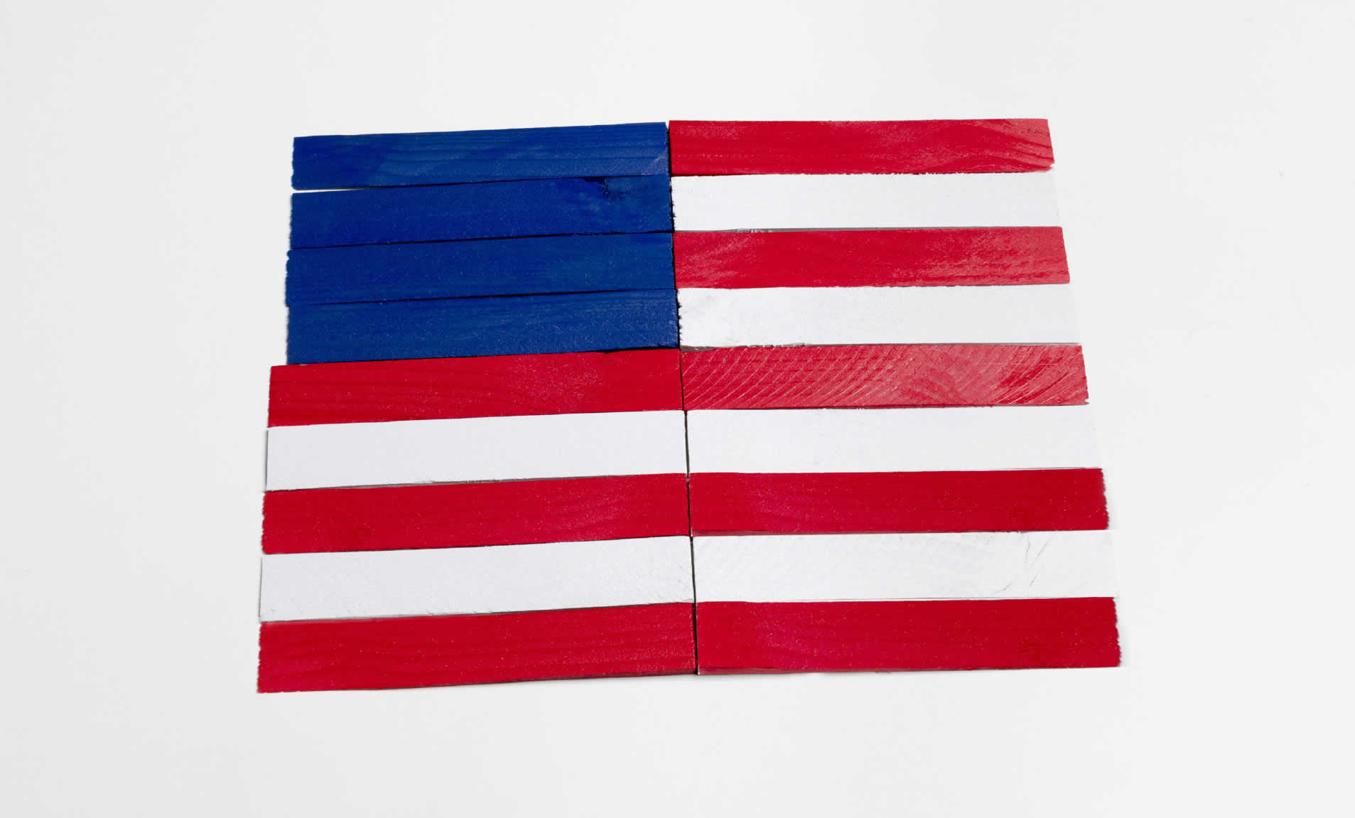 diy patriotic flag crafting