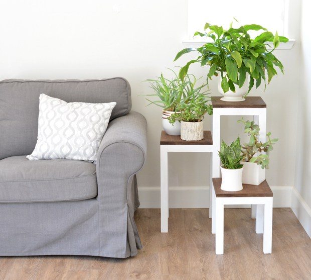 Tiered Wooden Plant Stand