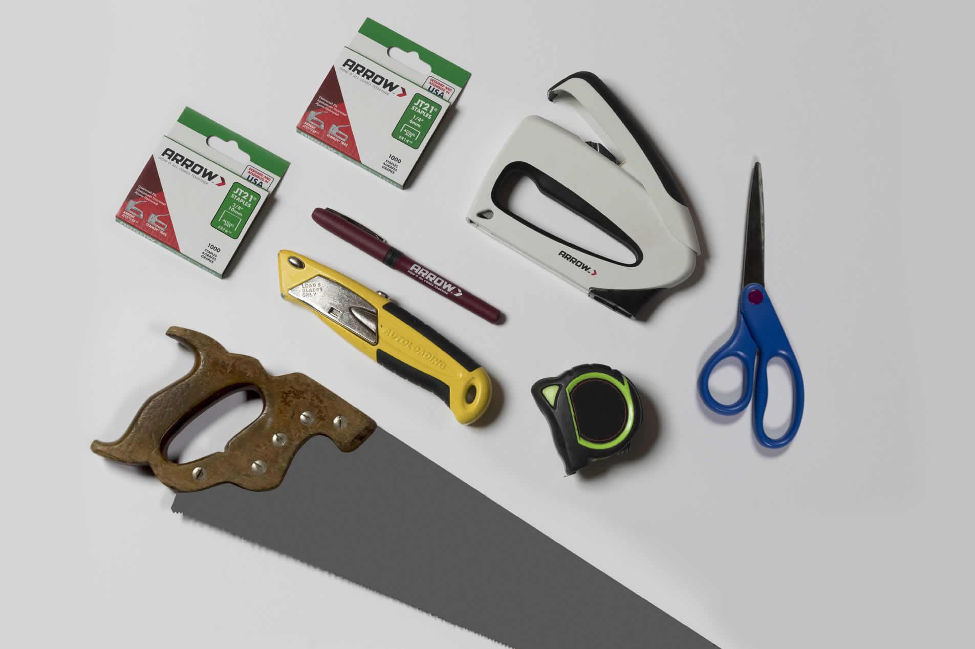 Arrow TT21 TruTac staple gun, JT21 staples and other tools