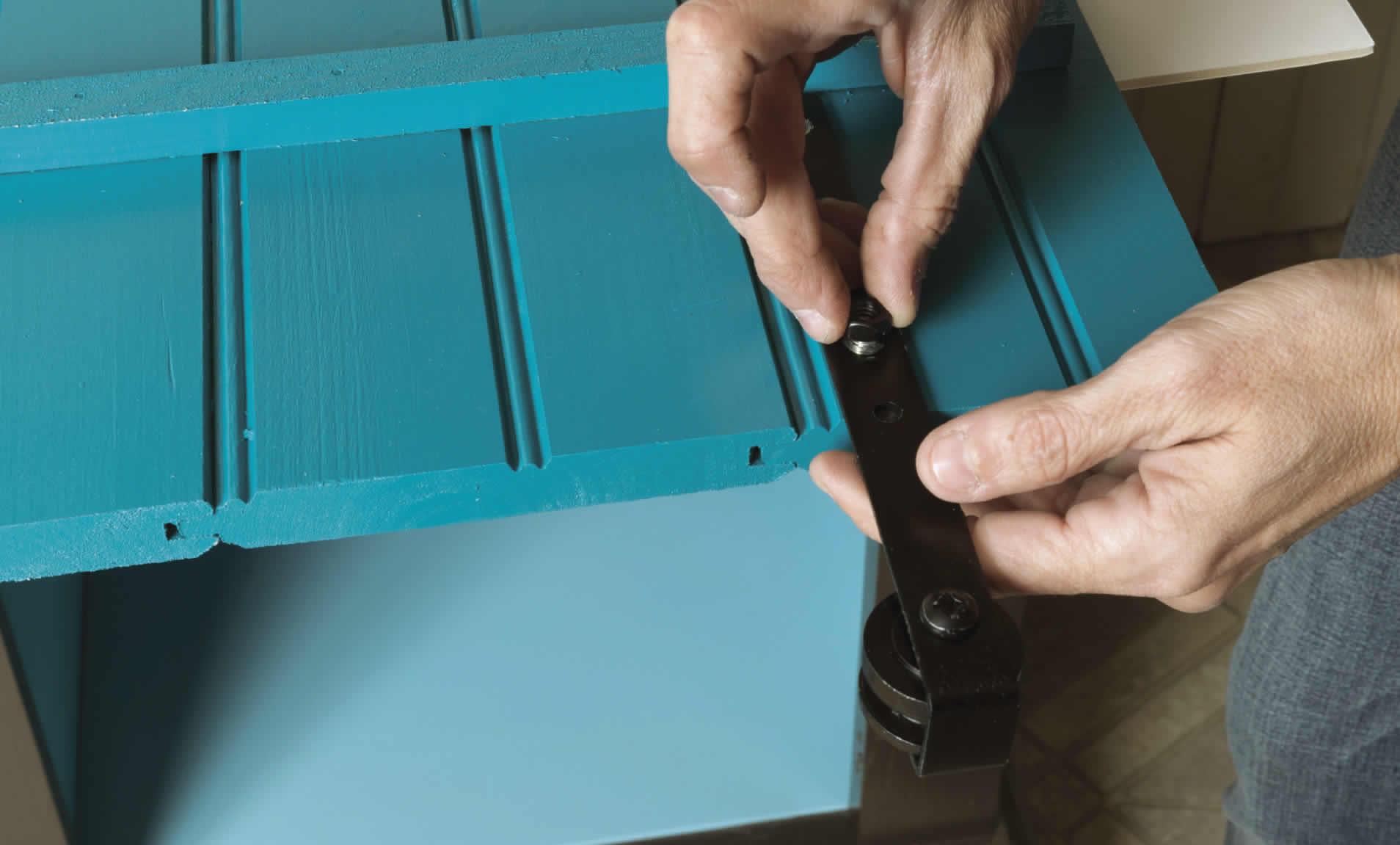 hardware for sliding barn door cabinet DIY project