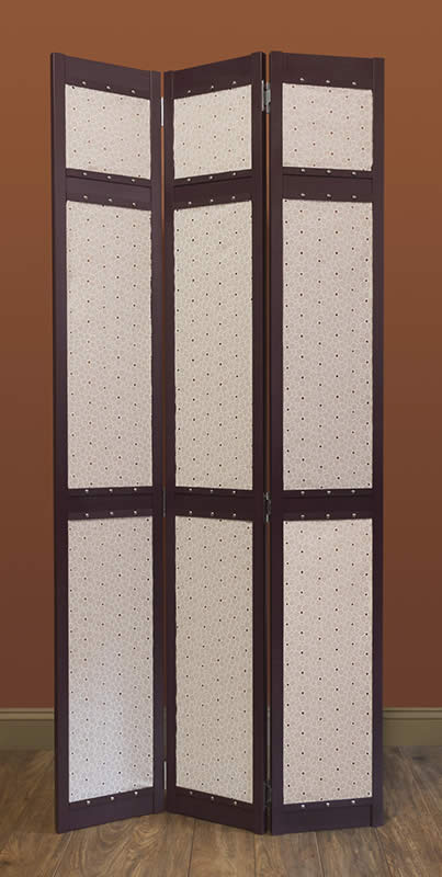 Fabric-Lined Room Divider