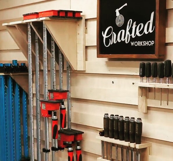 Organization never looked so good. Build these gorgeous French cleat walls from @CraftedWorkshop with Arrow's PT18G Pneumatic Brad Nailer. Link in bio! . . . . . . . .