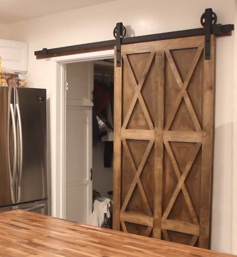 Building Sliding Barn Door Diy: DIY Sliding Plywood Barn Door For Your Home